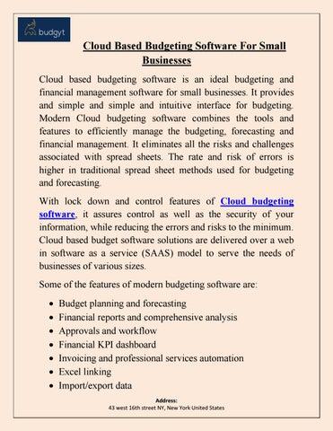 excel based budgeting software
