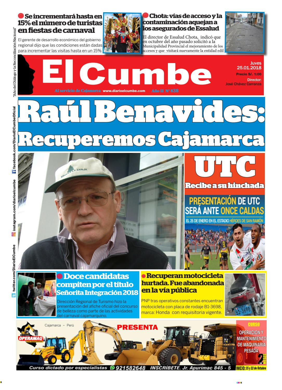 Diario El Cumbe 25 01 2018 by Diario El Cumbe - issuu