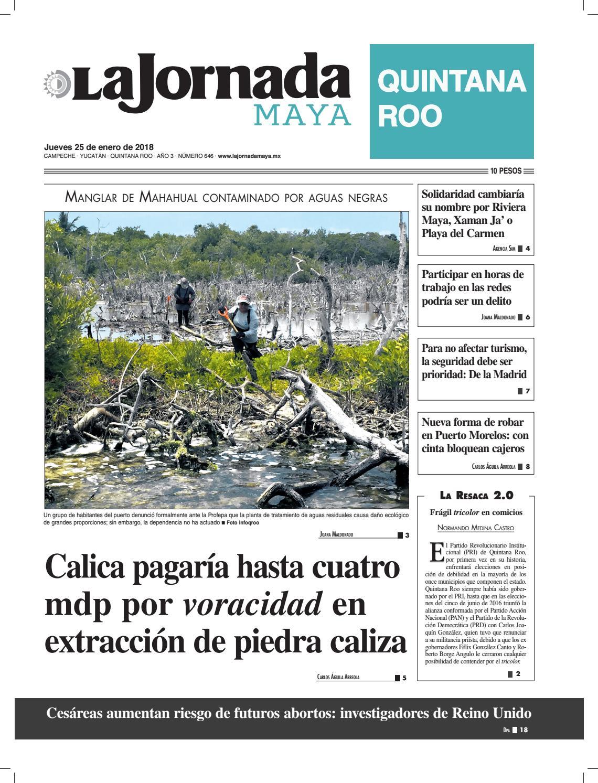 La jornada maya · jueves 25 de enero de 2018 by La Jornada Maya - issuu