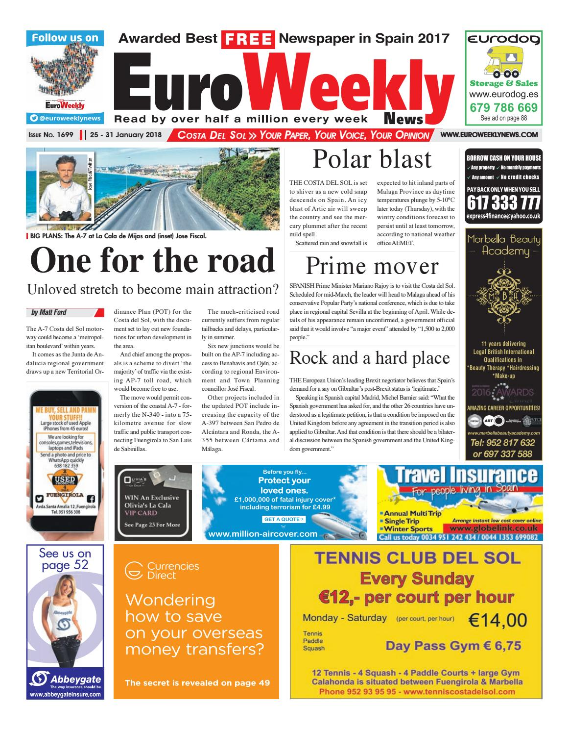 Euro weekly news costa del sol 25 31 january 2018 issue 1699 by euro weekly news costa del sol 25 31 january 2018 issue 1699 by euro weekly news media sa issuu fandeluxe Gallery