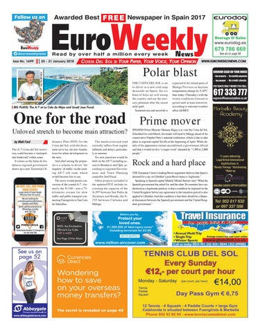 Euro Weekly News Costa Del Sol 25 31 January 2018 Issue 1699 By