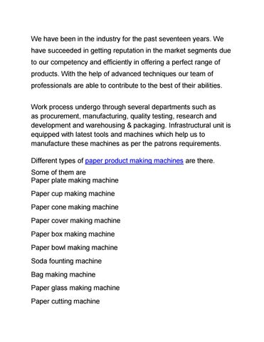 Page 1  sc 1 st  Issuu & Paper plate making machine manufacturer in hyderabad telangana by ...