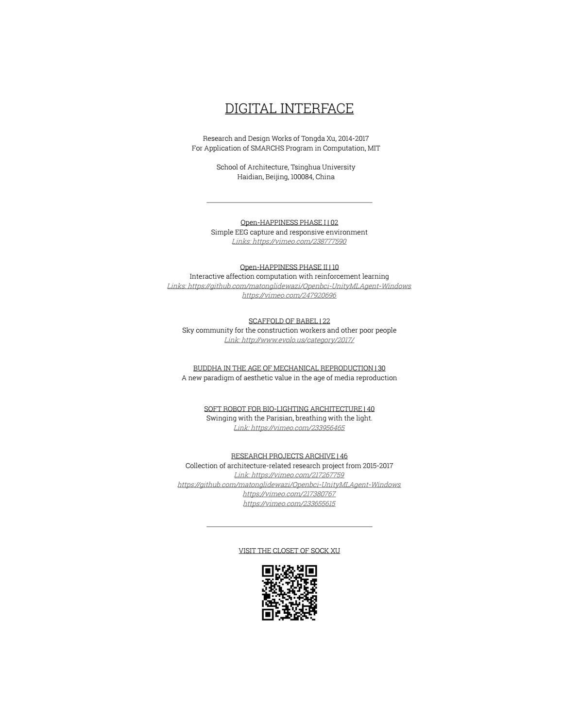 Sock Xu PDF Portfolio 2015-2017 by Xu Tongda - issuu