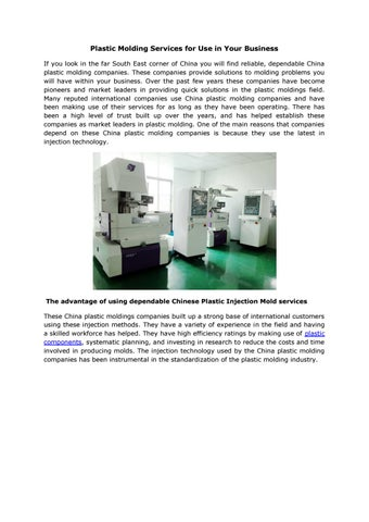 plastic mould by mould making - issuu