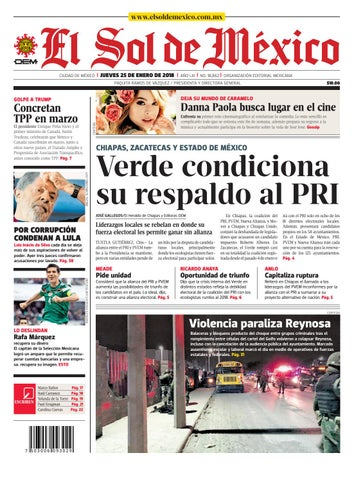 7b2b7225c8d54 El Sol de México 25 de enero 2018 by El Sol de México - issuu
