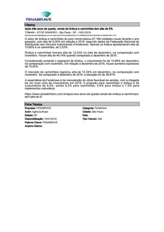 4754fe27652 Clipping Fenabrave 15.01.2018 by MCE Comunicação - issuu
