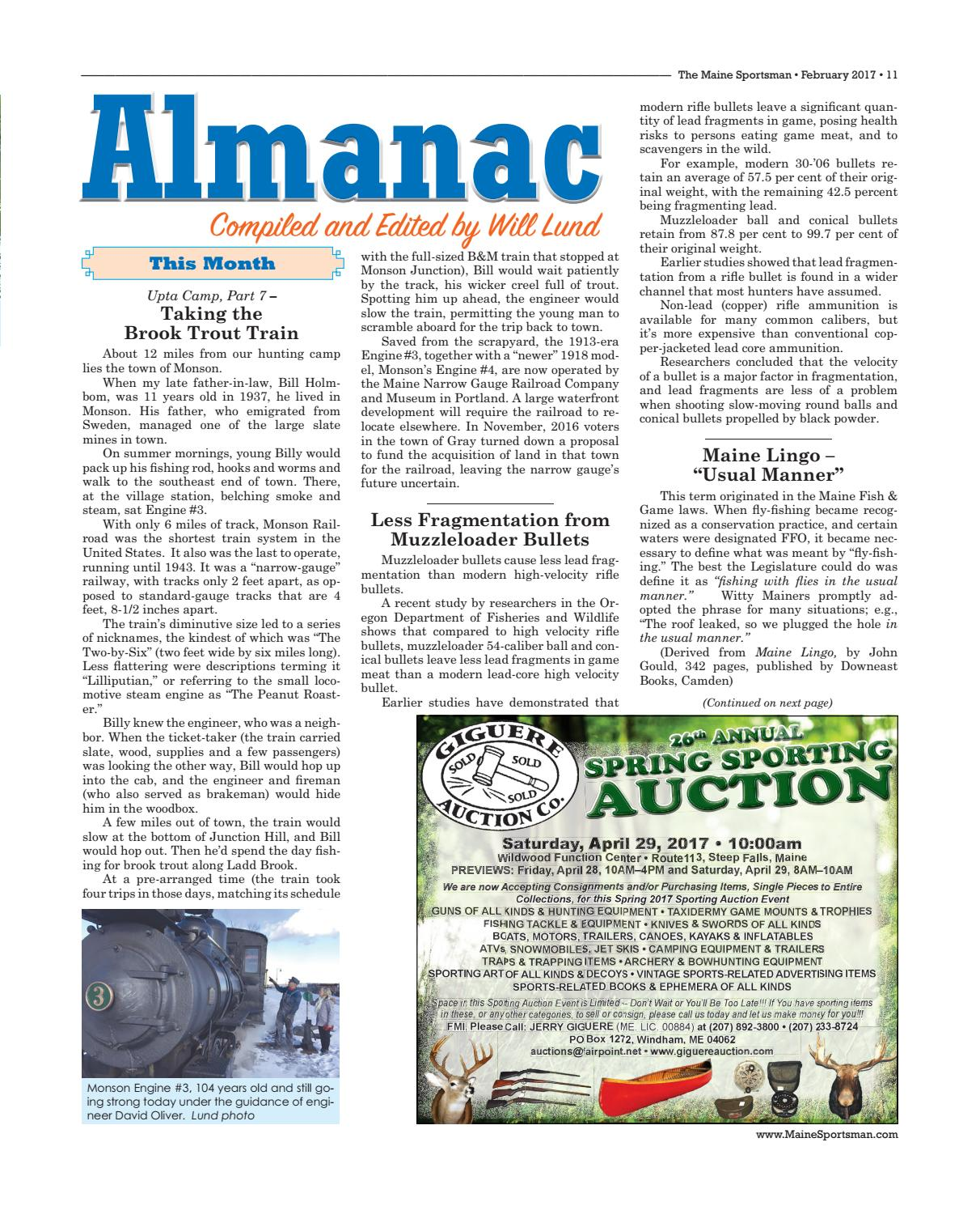 The Maine Sportsman - February 2017 by The Maine Sportsman