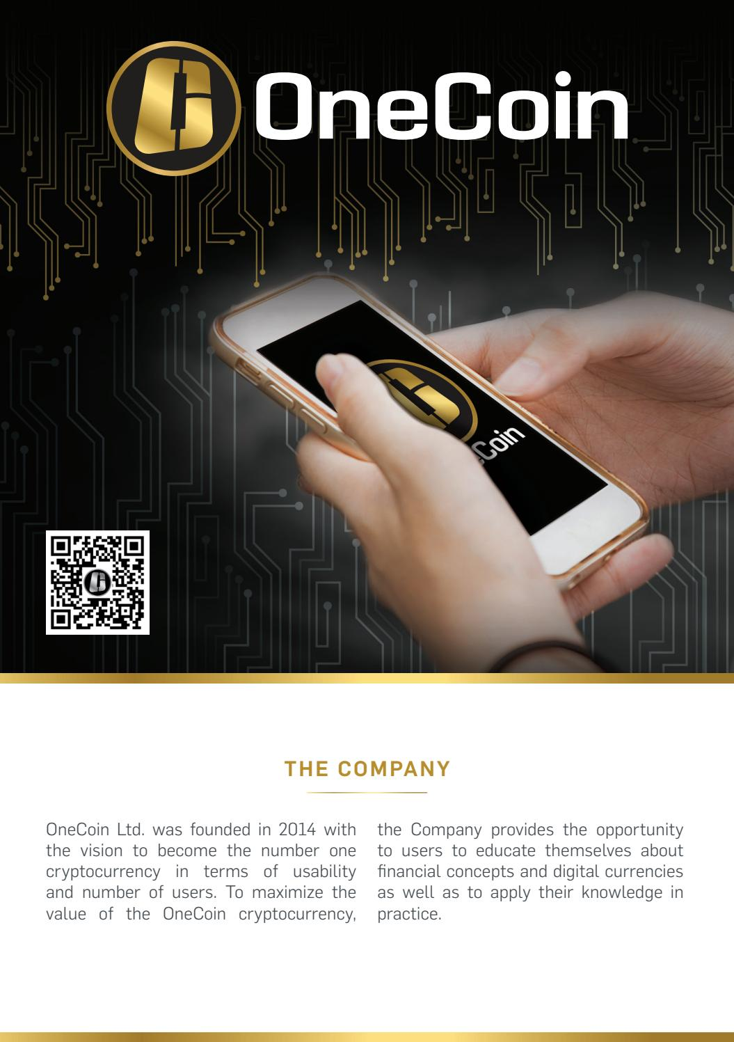 Onecoin brochure by OneCoin Official - issuu