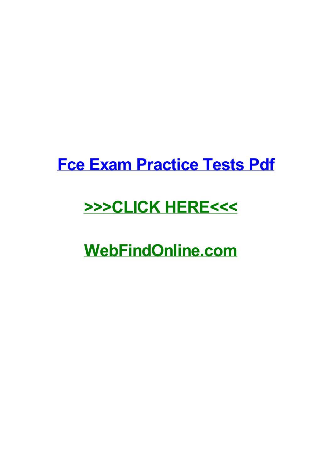 Fce Tests Pdf