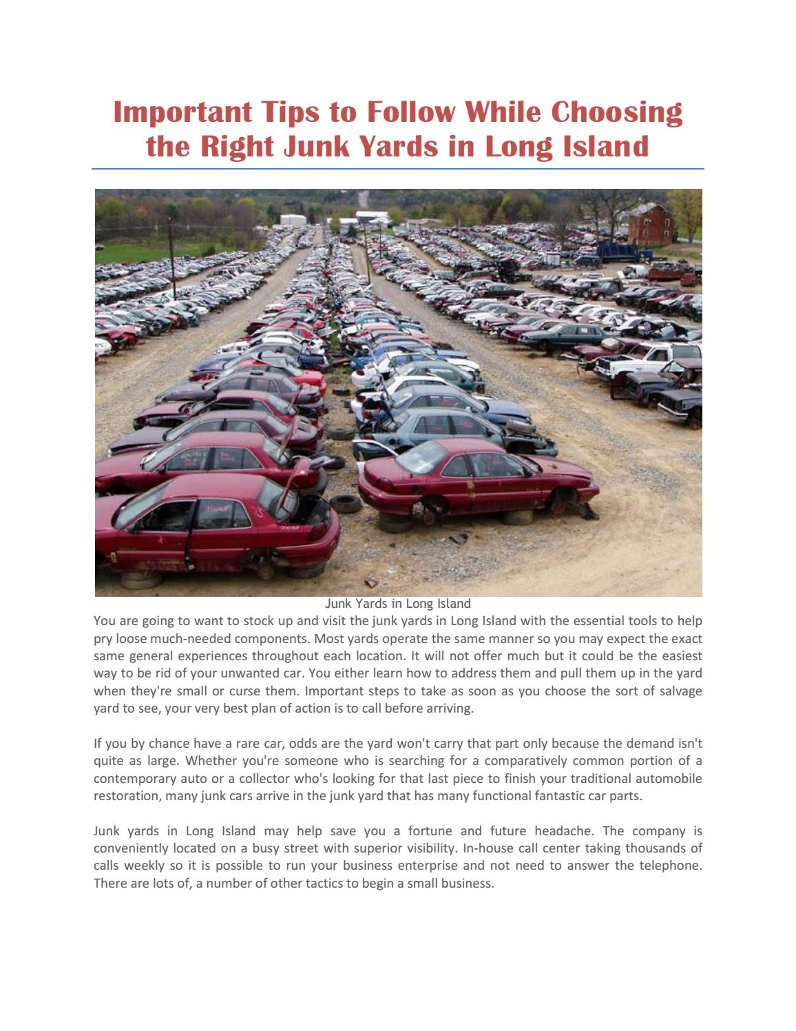 Junk yards in long island by Jiffy Junk - issuu