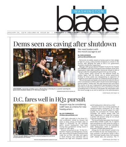 Free Talk Monday January 26th Agreeing >> Washingtonblade Com Volume 49 Issue 4 January 26 2018 By