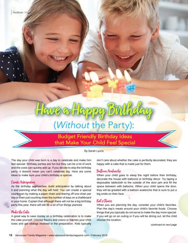 Feature Have A Happy Birthday Without The Party