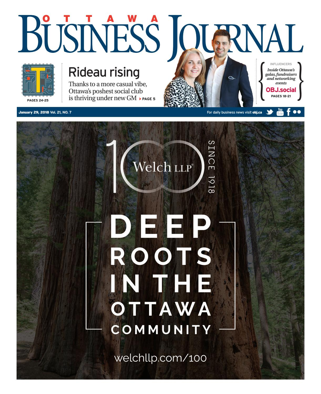 Ottawa Business Journal January 29 2018 By Great River Media Inc