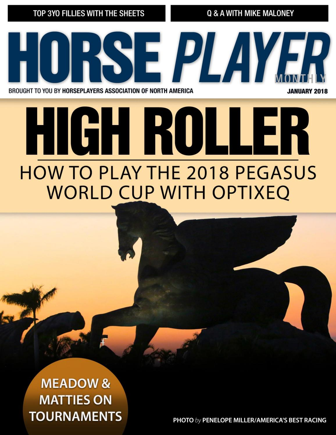 January 2018 issue of Horseplayer Monthly - from the