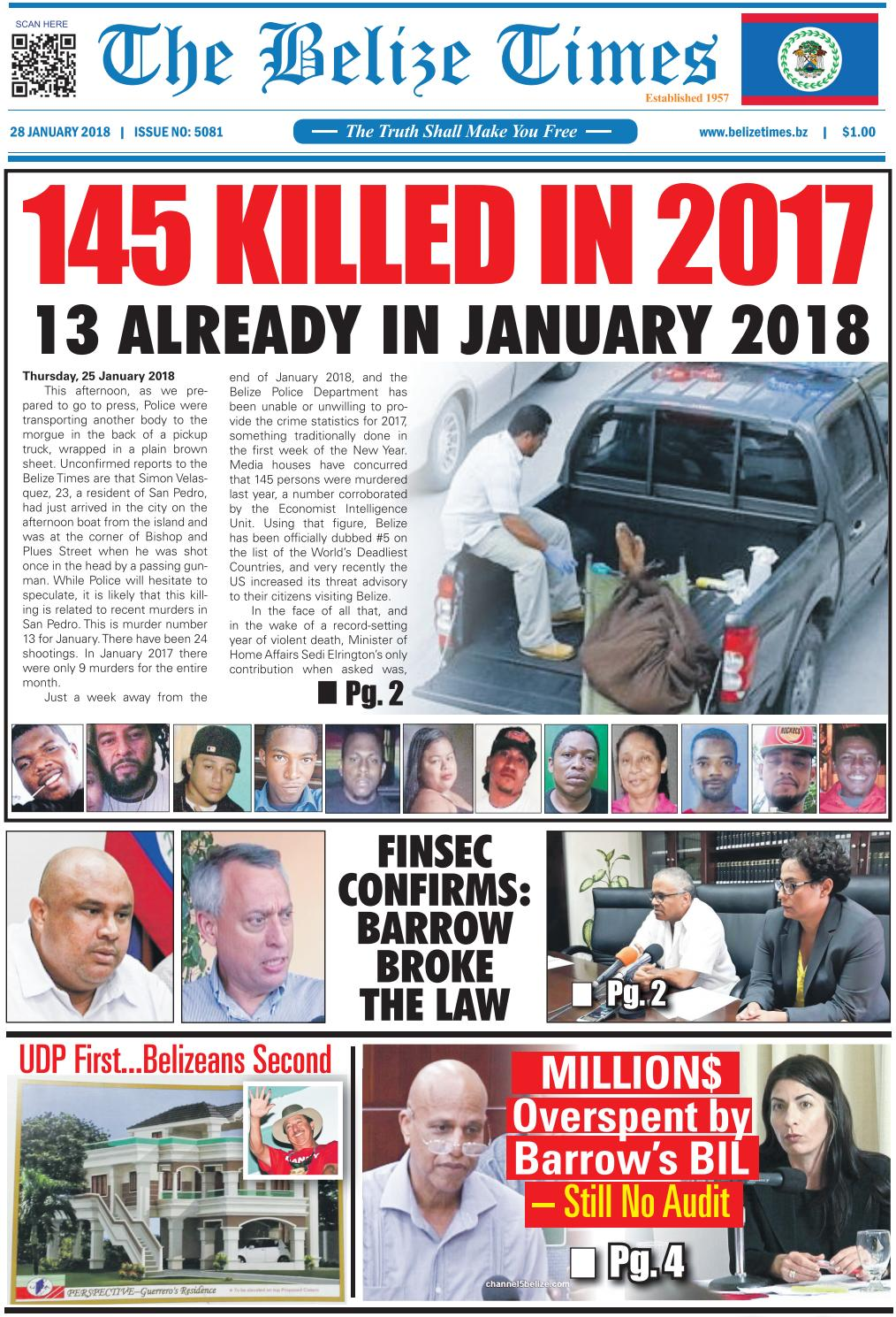 Belize Times January 28, 2018 by Belize Times Press - issuu