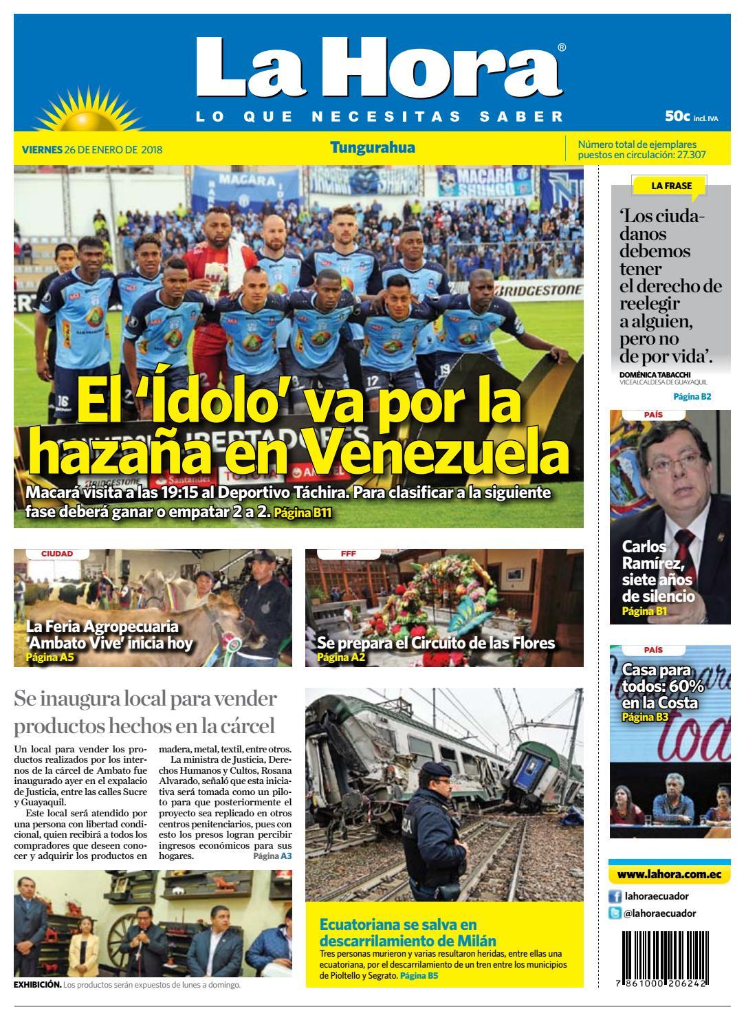 b188b8a709bca Tungurahua 26 de enero de 2018 by Diario La Hora Ecuador - issuu