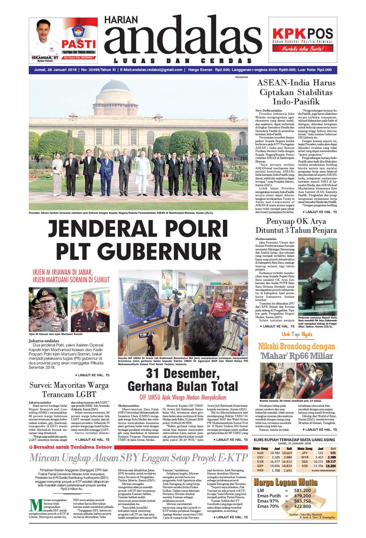 Epaper andalas edisi jumat 26 januari 2018 by media andalas - issuu cbd55e1b00