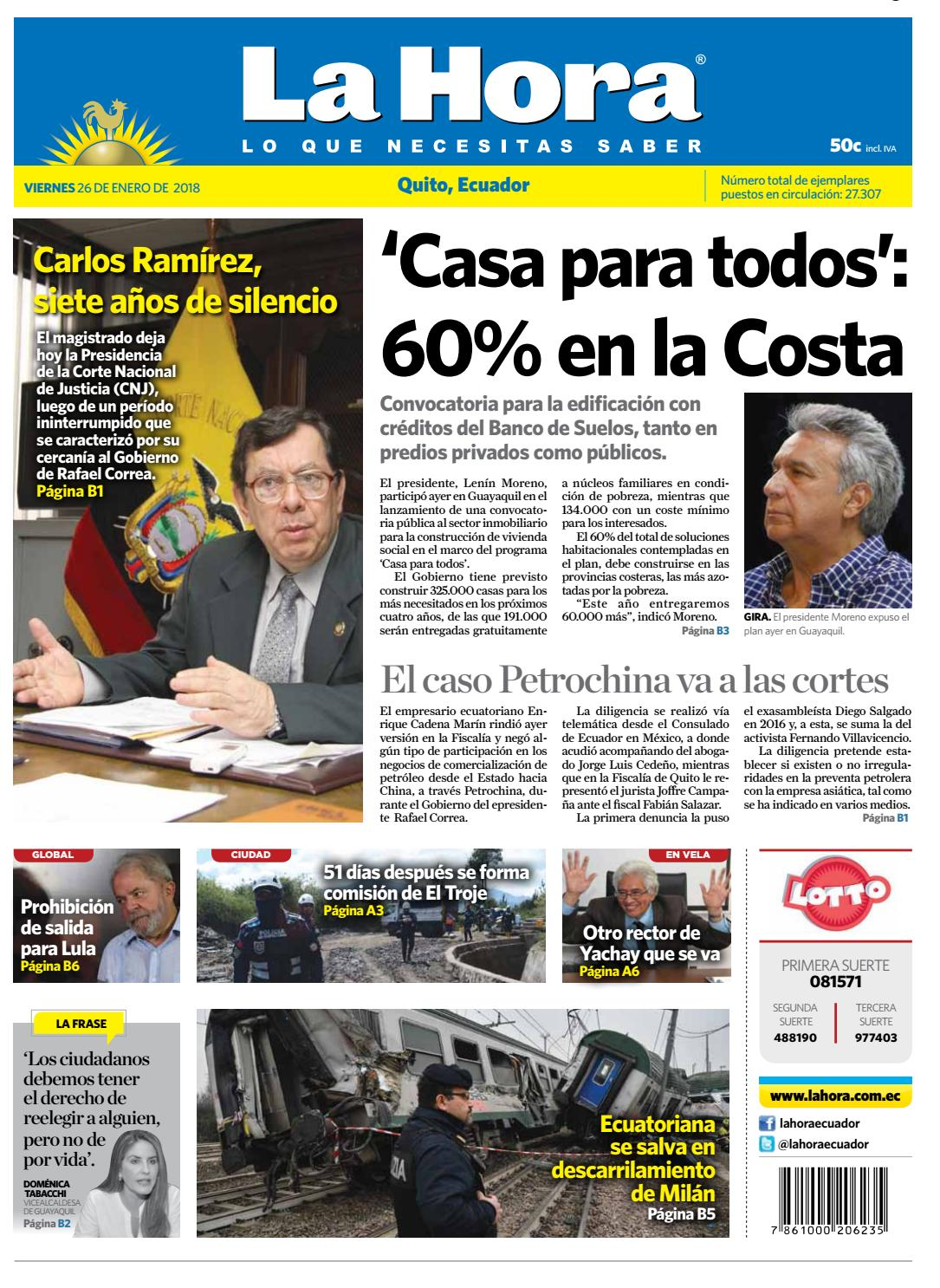 72fcca6d4f39 Quito 26 de enero de 2018 by Diario La Hora Ecuador - issuu