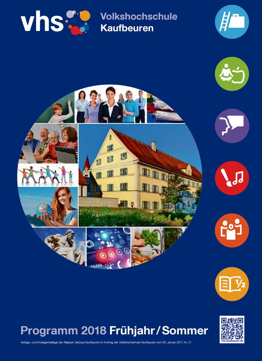 Programmheft fruehjahr sommer 2018 vhs kaufbeuren by Volkshochschule  Kaufbeuren e. V. - issuu