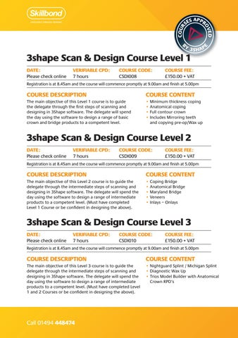 Page 10 of 3Shape and Digital Courses