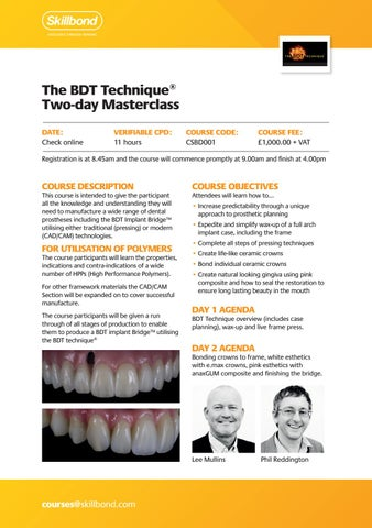 Page 22 of The BDT Technique® two-day Masterclass