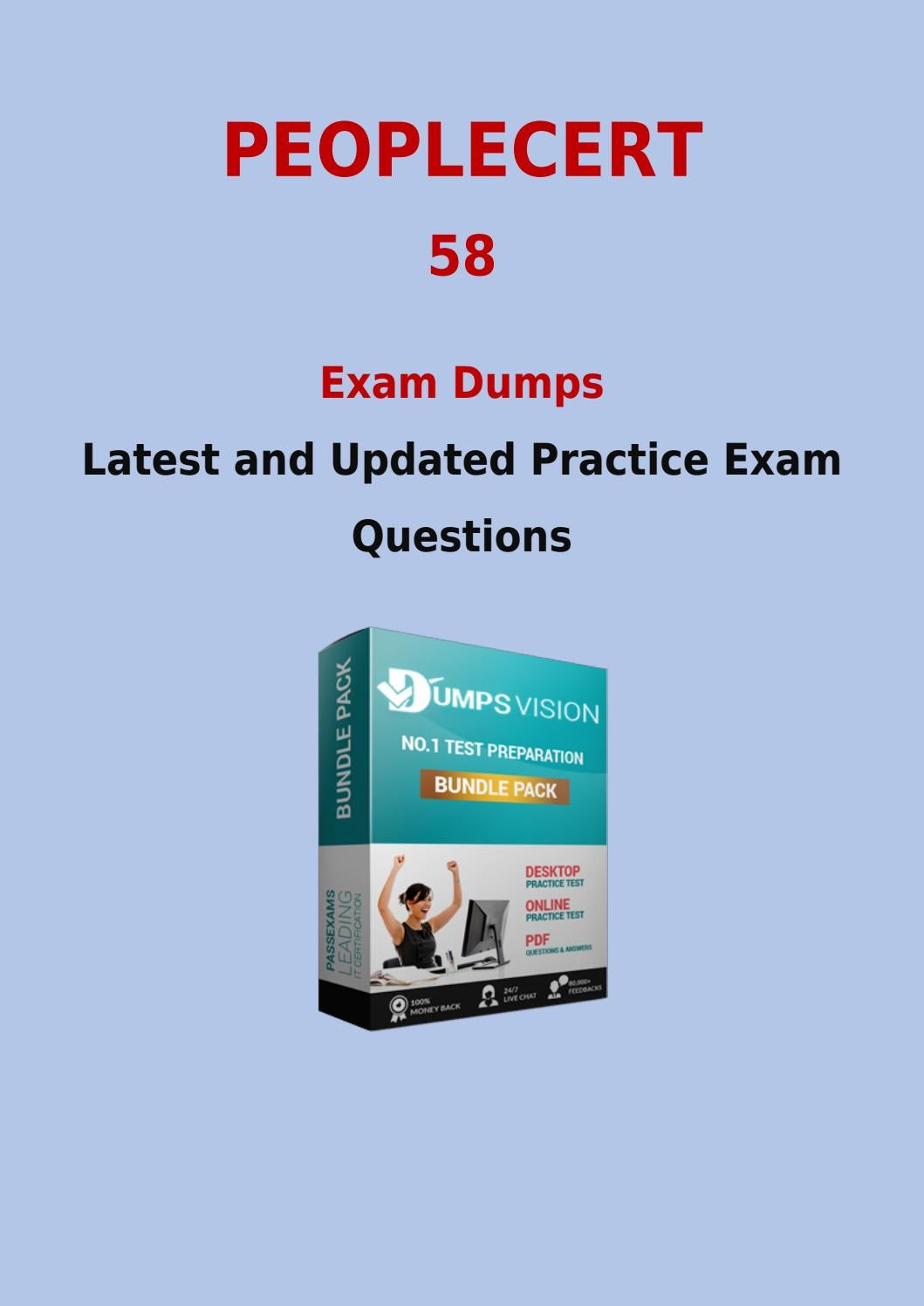 Peoplecert 58 Exam Training Material To Pass With 58 New Questions