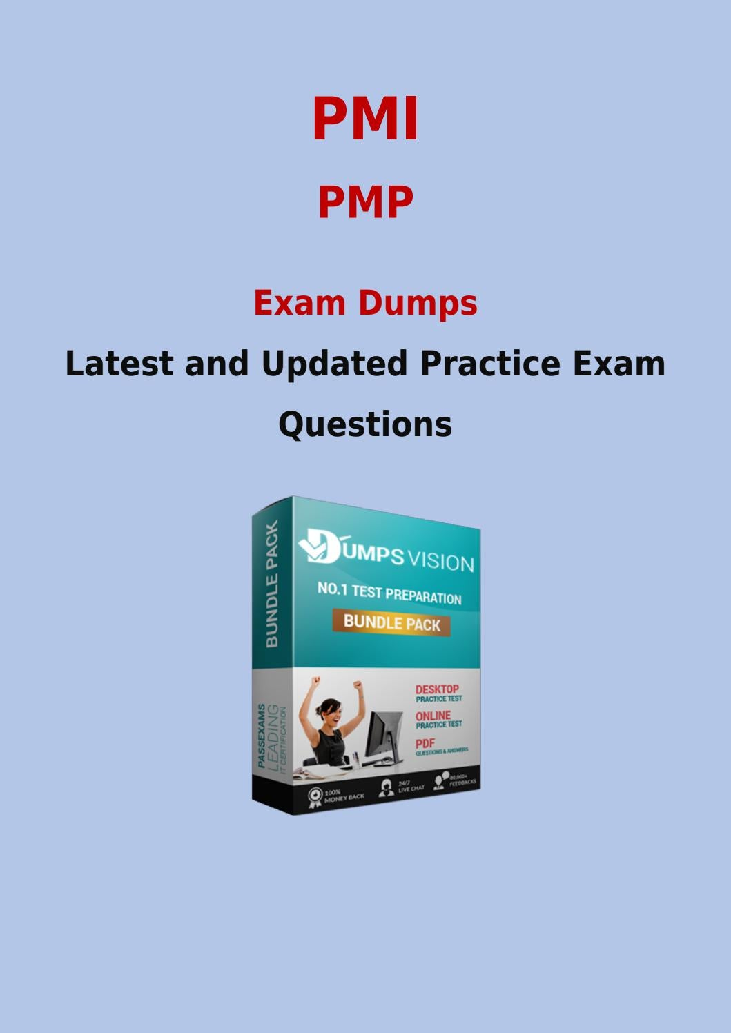 Pmp Exam Prep With Real Pmi Pmp New Questions Answers And Vce By