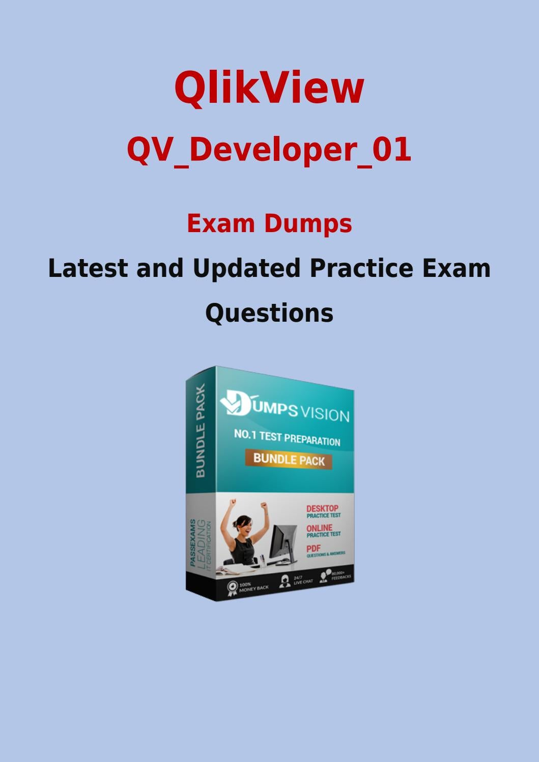 Qv Developer 01 Pdf Exam Dumps Free Qlikview Qv Developer 01 Sample