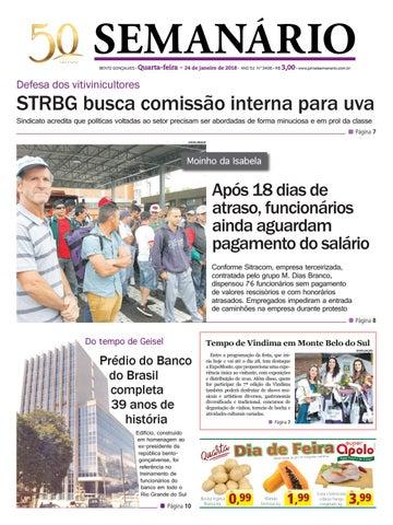 c8d443ecfd Jornal Semanário - 24 de janeiro de 2018 - Ano 51 - Nº 3406 by ...