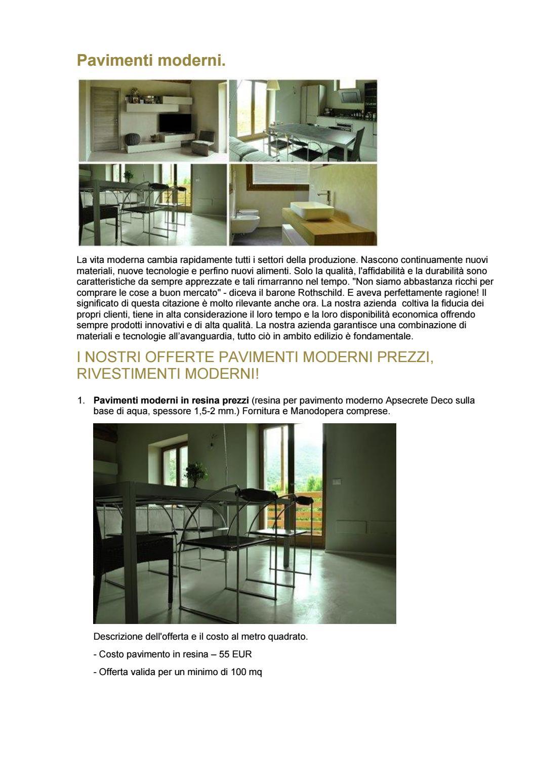 Costo Posa Resina Al Mq.Pavimenti Moderni By Minirasex Issuu