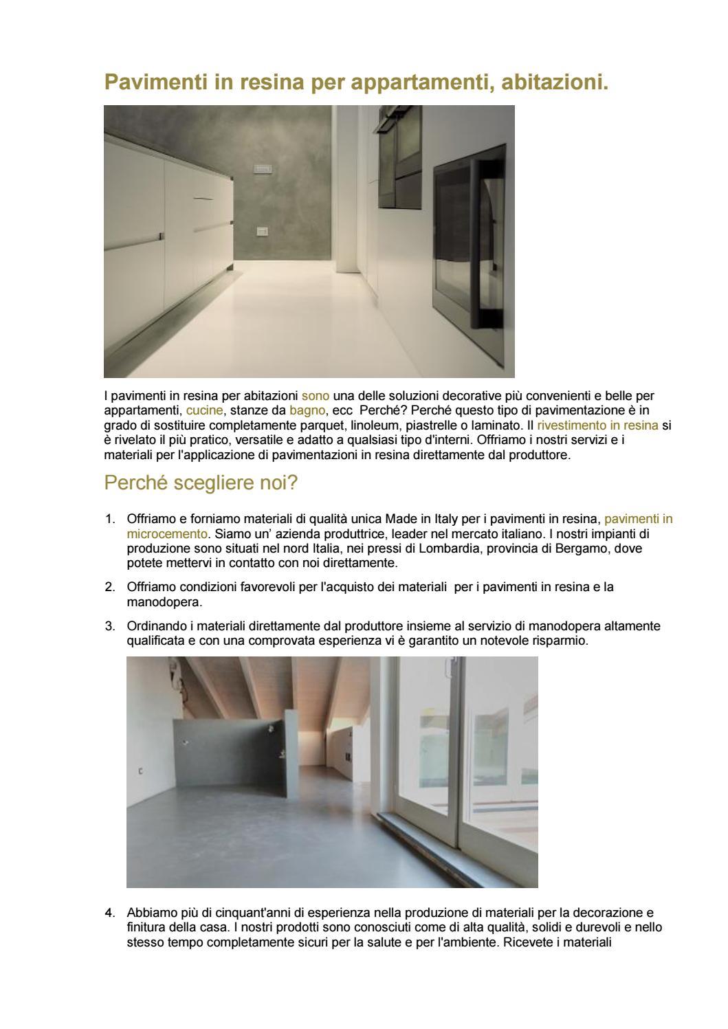 Produzione Resine Per Pavimenti.Pavimenti In Resina Per Appartamenti By Minirasex Issuu