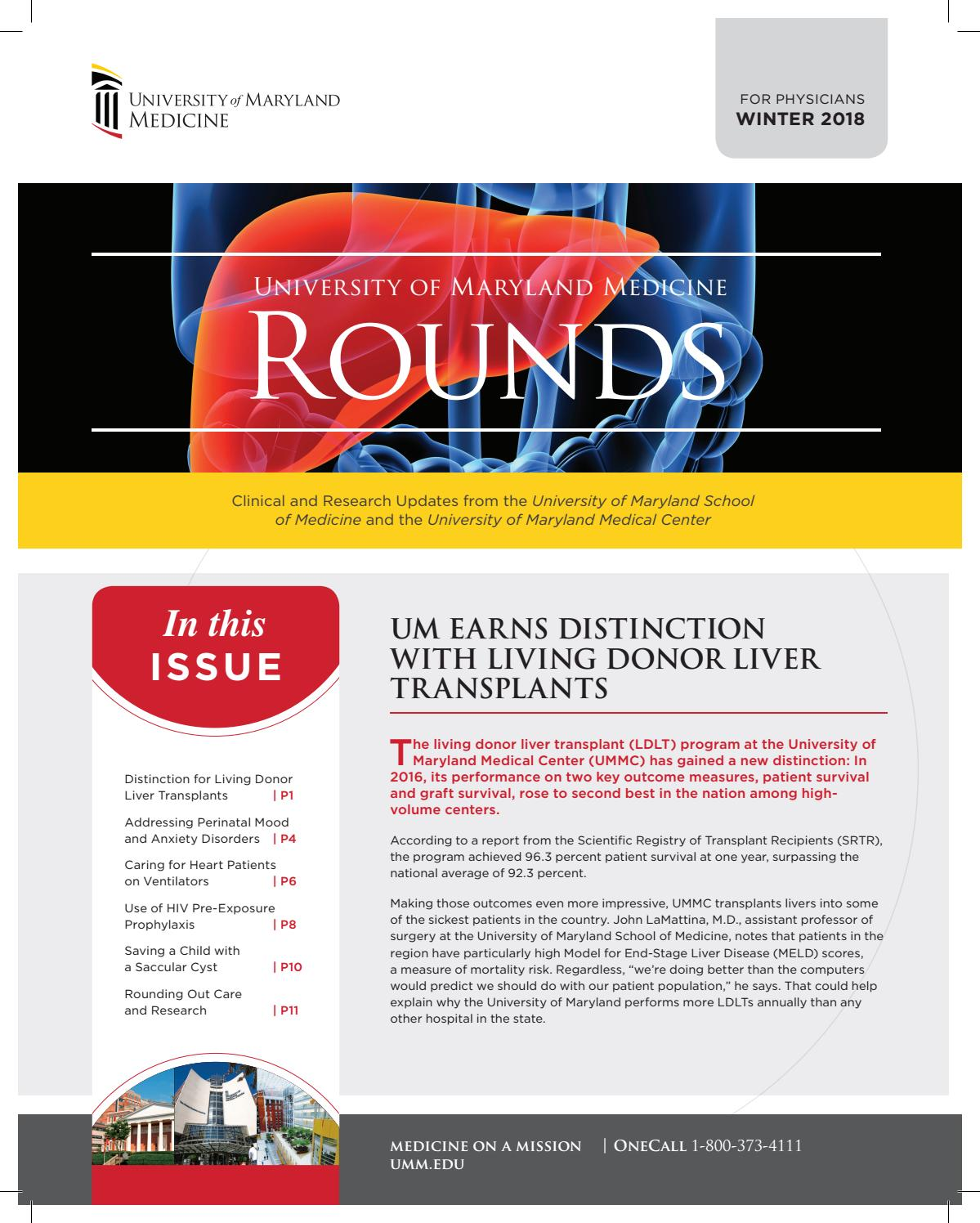 MD Rounds - Winter 2018 by UMMS - issuu