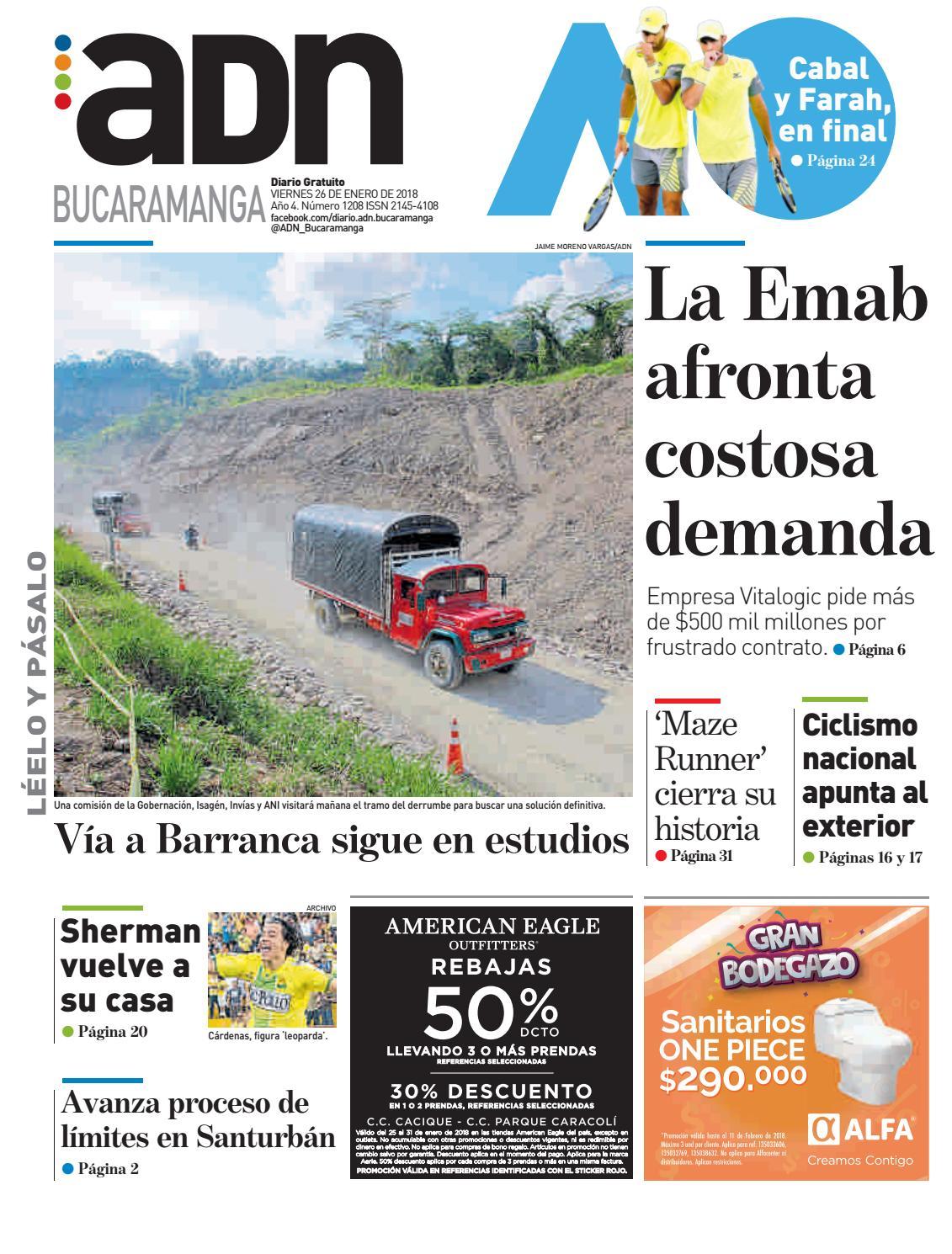 ADN Bucaramanga del 26 de enero del 2018 by diarioadn.co - issuu