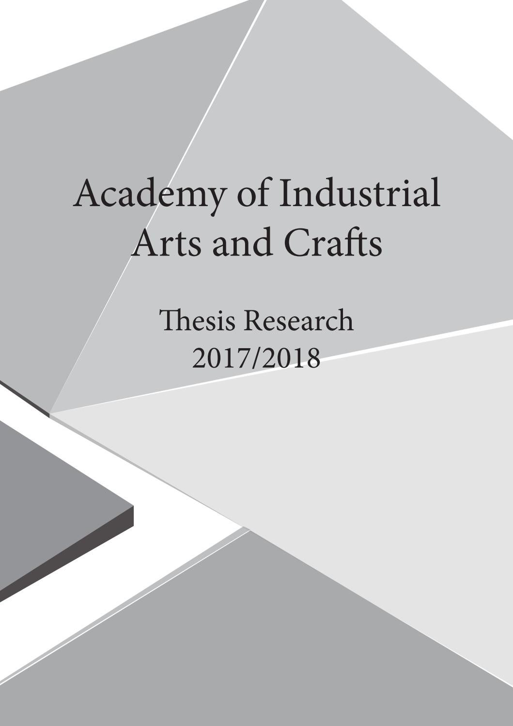 Academy Of Industrial Arts And Crafts Thesis Research By Mohammed Al Hanbali Issuu