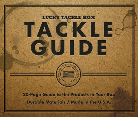 Lucky Tackle Box - Tackle Guide February 2018