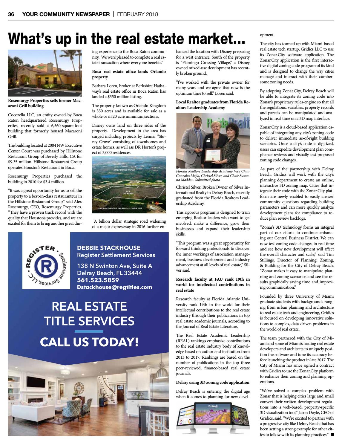 Delray Newspaper | February 2018 by Four Story Media Group