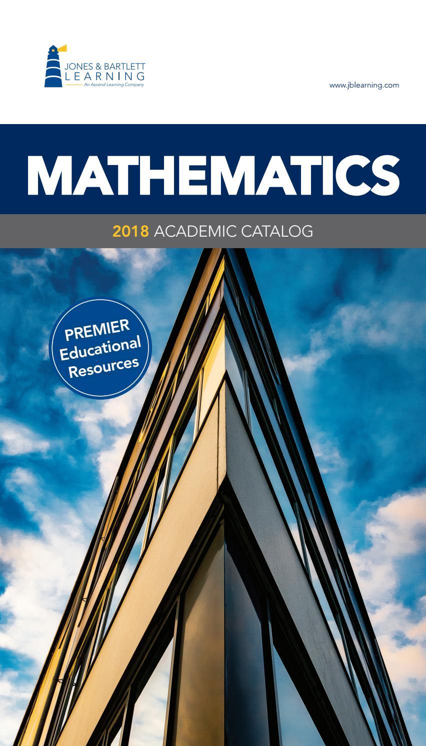 2018 Mathemathics Catalog By Jones Bartlett Learning Issuu