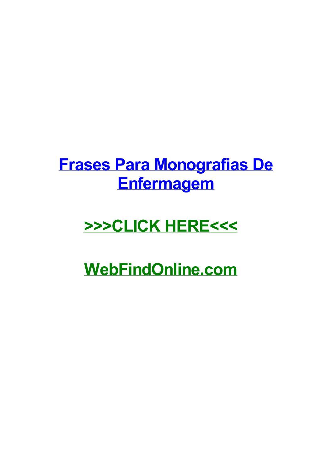 Frases Para Monografias De Enfermagem By Sheilamgtx Issuu