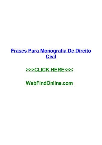 Frases Para Monografia De Direito Civil By Sheilamgtx Issuu