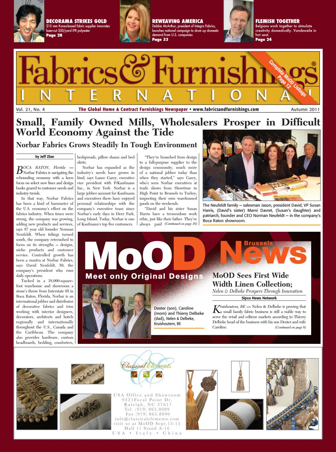 Fabrics & Furnishings - Autumn 2011 Issue by Fabrics & Furnishings
