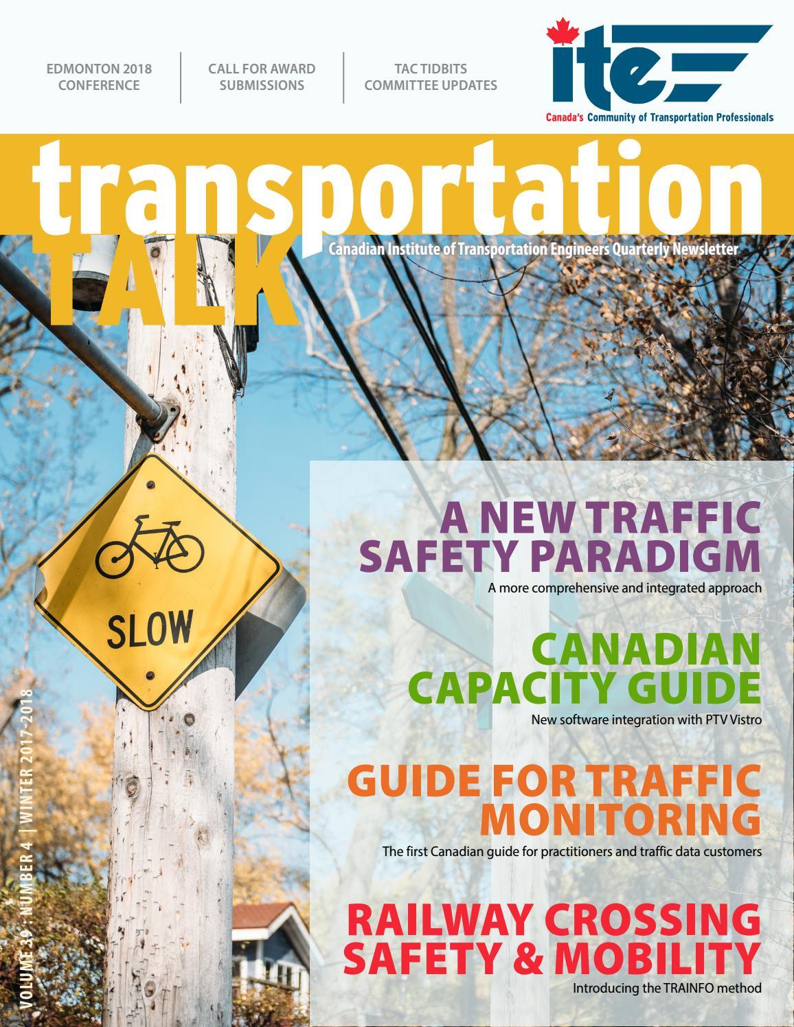Transportation Talk - Winter 2017-18 by CITE - issuu