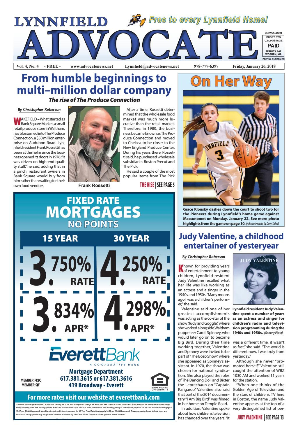 THE LYNNFIELD ADVOCATE - Friday, January 26, 2018 by Mike