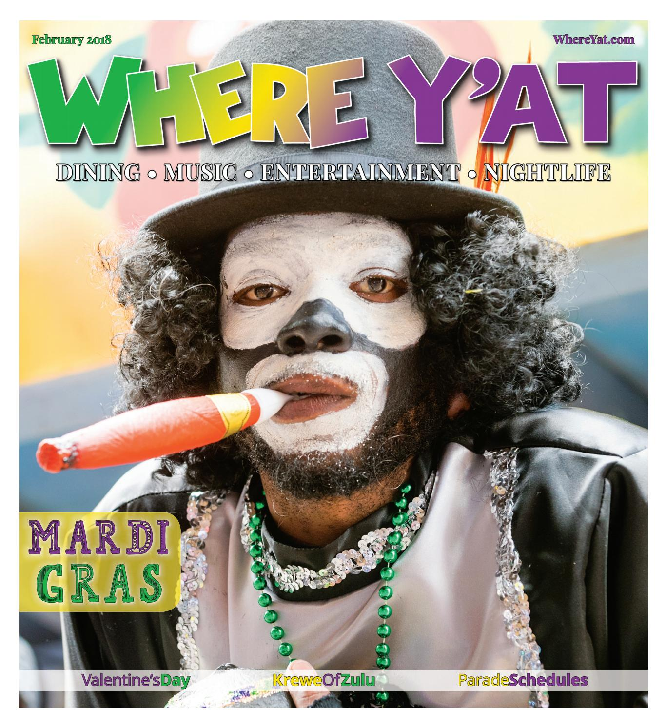 Mardi Gras 2018 by Where Y'at Magazine - issuu