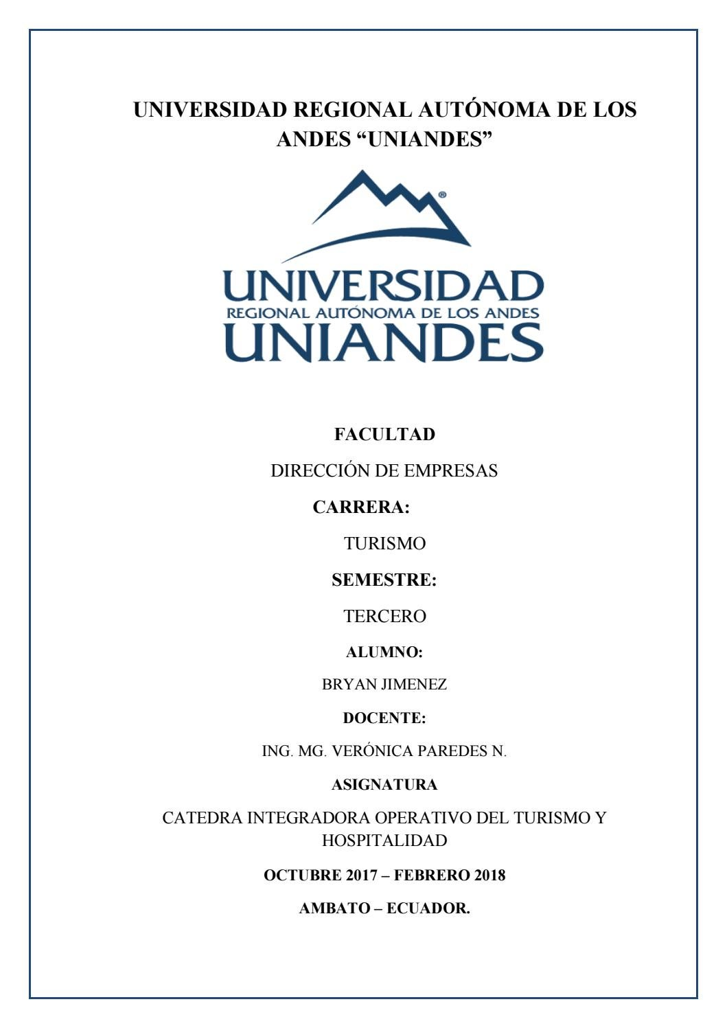 Portafolio catedra integradora gestion opertiva del turismo y ...