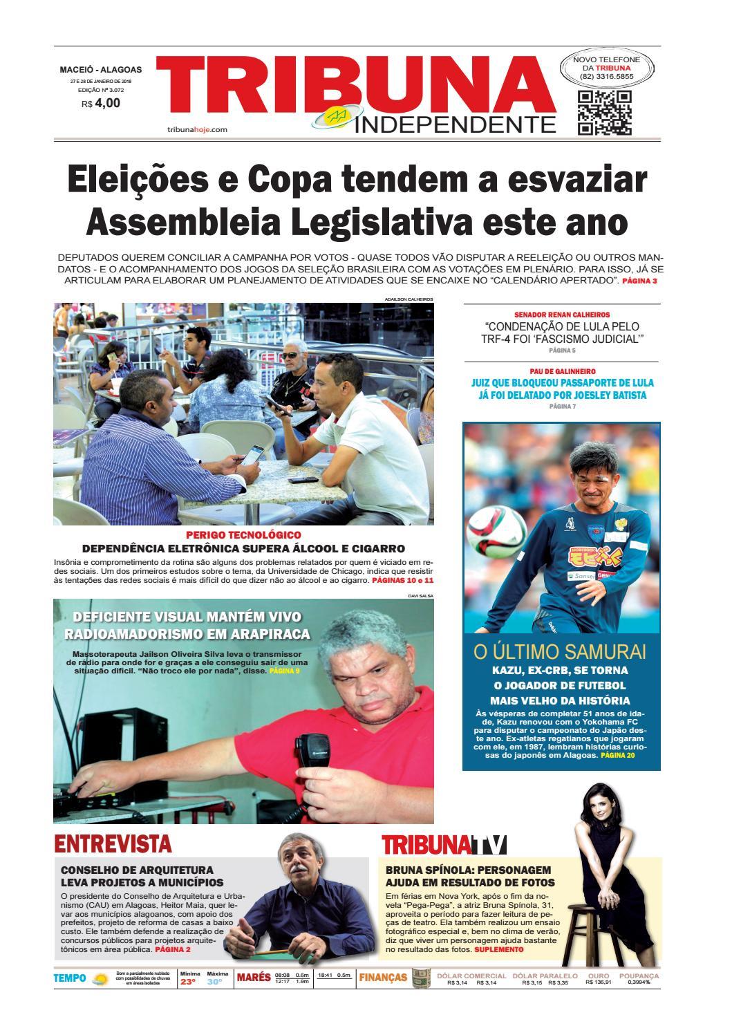 06c273f560c Edição número 3072 - 27 e 28 de janeiro de 2018 by Tribuna Hoje - issuu