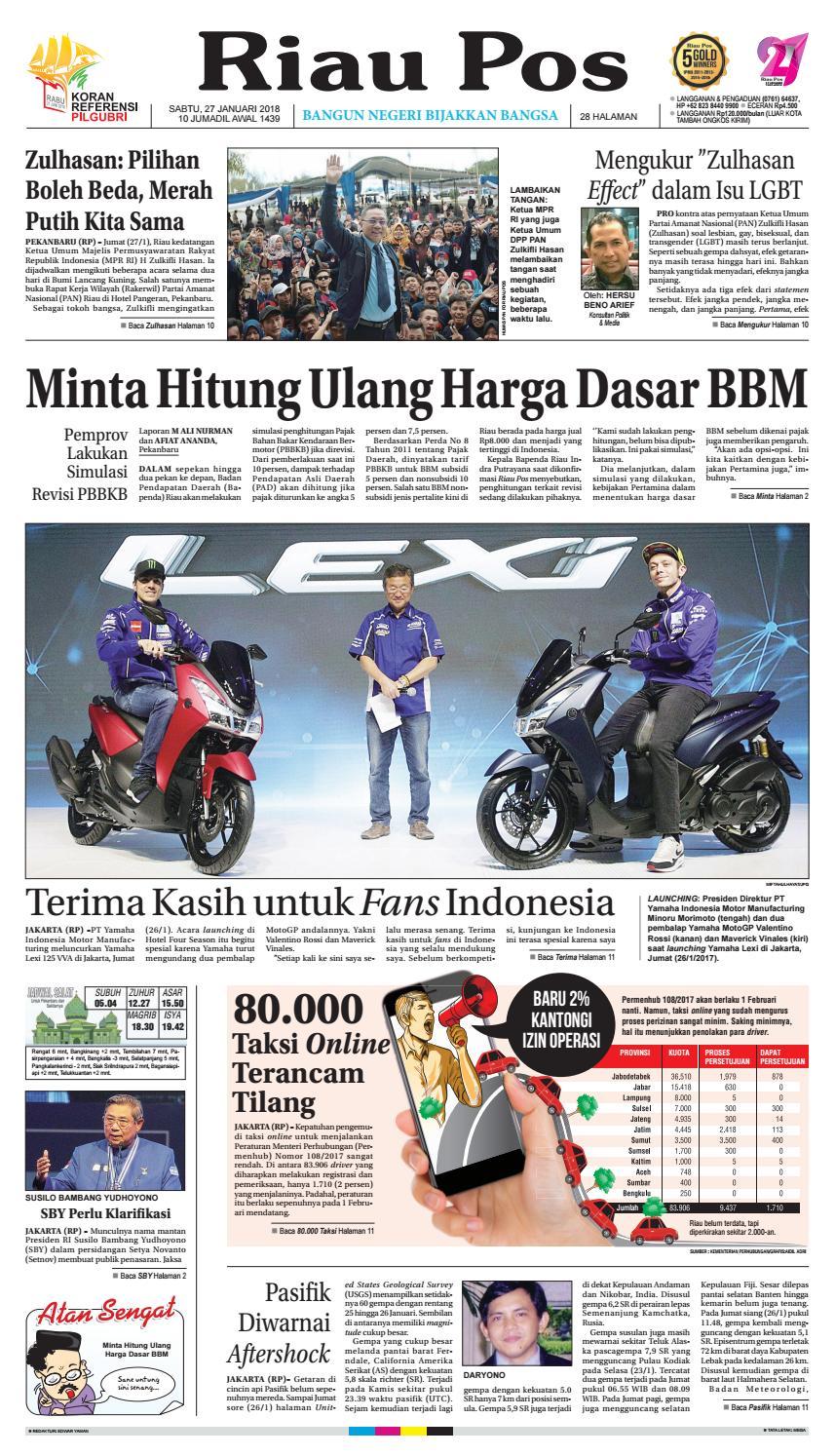 2018 01 27 By Riau Pos Issuu Rejeki Anak Soleh Mamypoko Standar M34