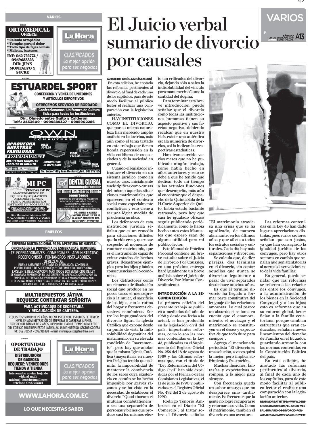 Esmeraldas 27 de enero de 2018 by Diario La Hora Ecuador - issuu c8c863ba0ab