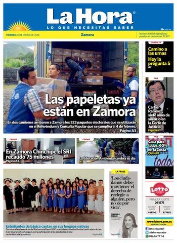 c11f1381ddf0 Diario La Hora Zamora 26 de Enero 2018 by Diario La Hora Ecuador - issuu
