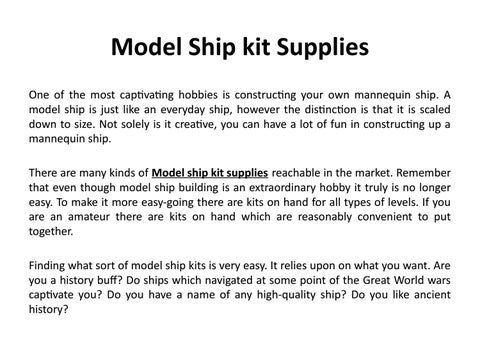 Model ship kit supplies by Naturecoastonline - issuu
