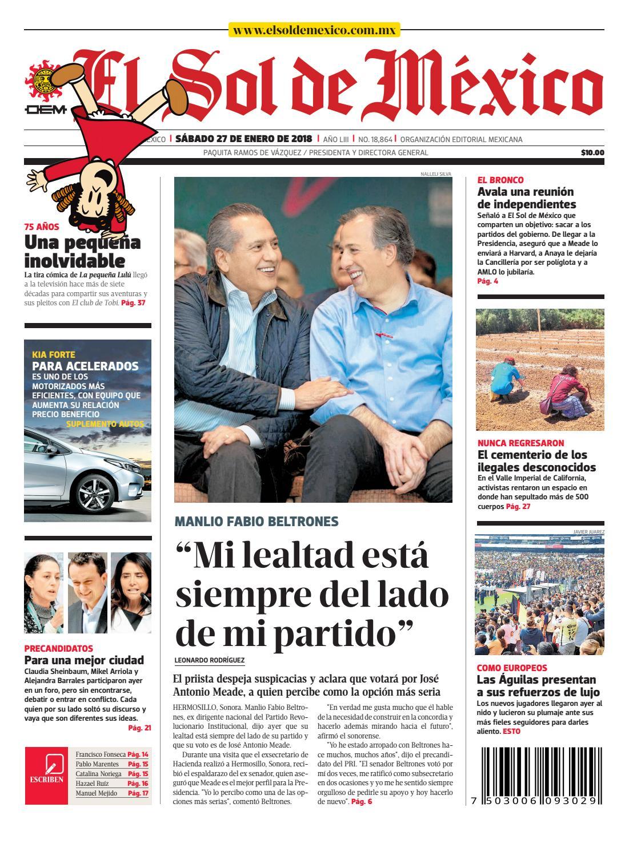 El Sol de México 27 de Enero de 2018 by El Sol de México - issuu 13d6ab1e7a1